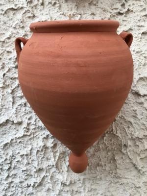 Wandblumentopf terracotta klein