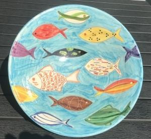 Obst- und Dekoschüssel, Fische